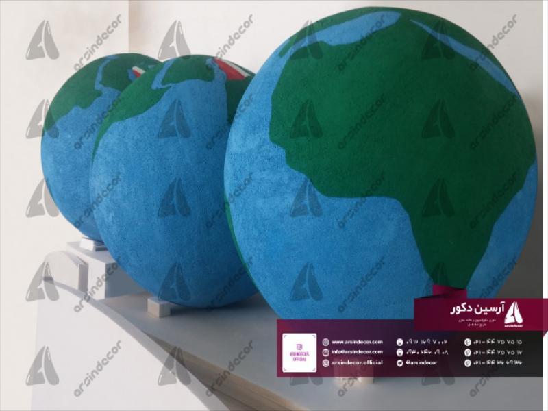 طراحی و ساخت ماکت تبلیغاتی کره زمین