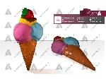 ماکت بستنی اسکوپی قیفی دیواری