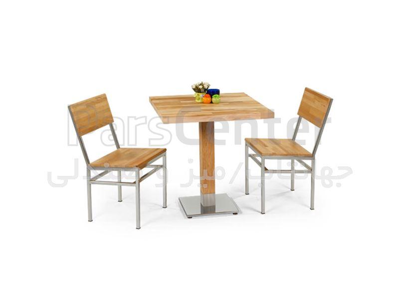 میز چوبی رستوران مدل 1027S (جهانتاب)