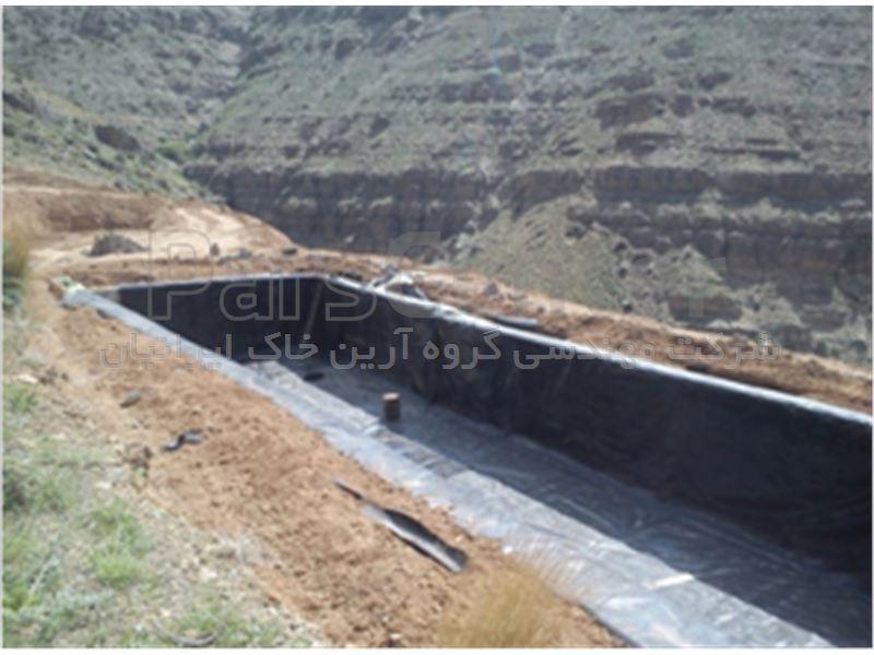 آب بندی استخر کشاورزی با ور ق ژئوممبران در استان البرز