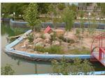 ساخت دریاچه تفریحی با ورق ژئوممبران، پژوهشکده جهاد کشاورزی