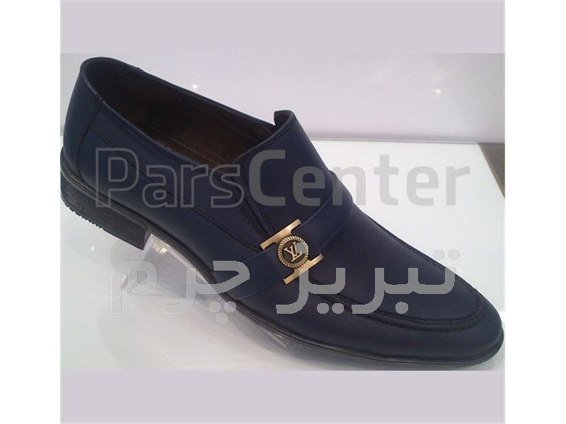 کفش مجلسی چرم طبیعی گاوی درجه یک مشکی - قهوه ای - سرمه ای