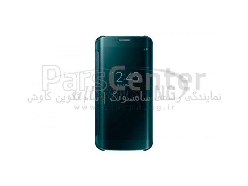 Samsung Galaxy S6 Edge Clear View Cover Green کاور سبز گلکسی اس 6 اج سامسونگ