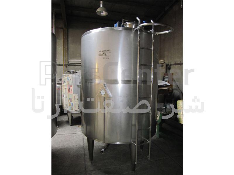 مخزن استیل شیر 5000 لیتر شیر صنعت آرتا