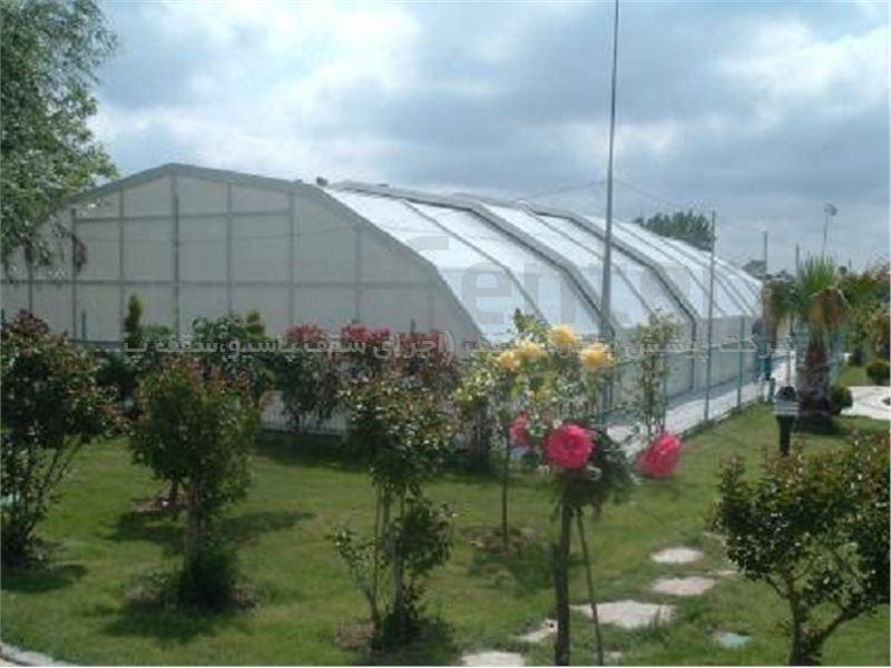پوشش سقف استخر متحرک مدل 8 ضلعی متحرک کد E08