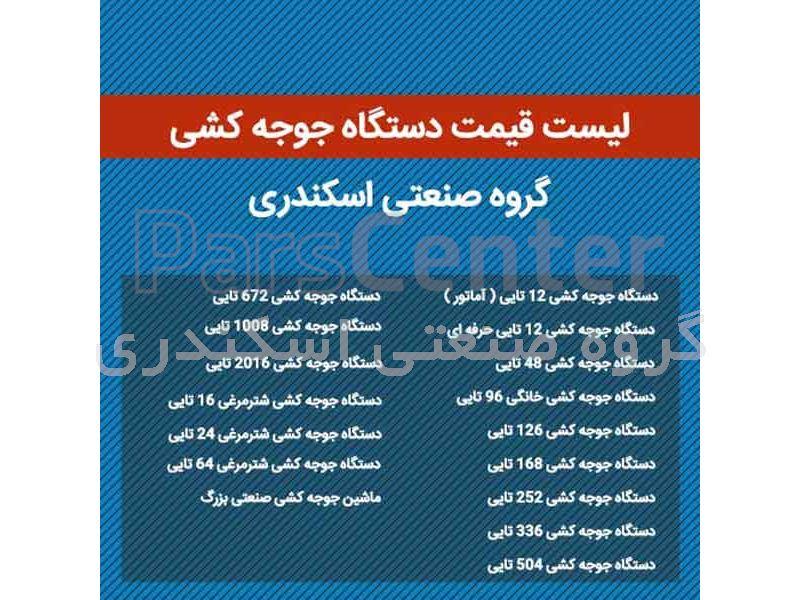لیست قیمت دستگاه جوجه کشی ( بروز شد )