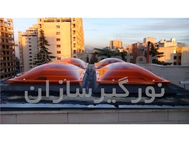 پوشش نورگیر سقف با نورگیر حبابی