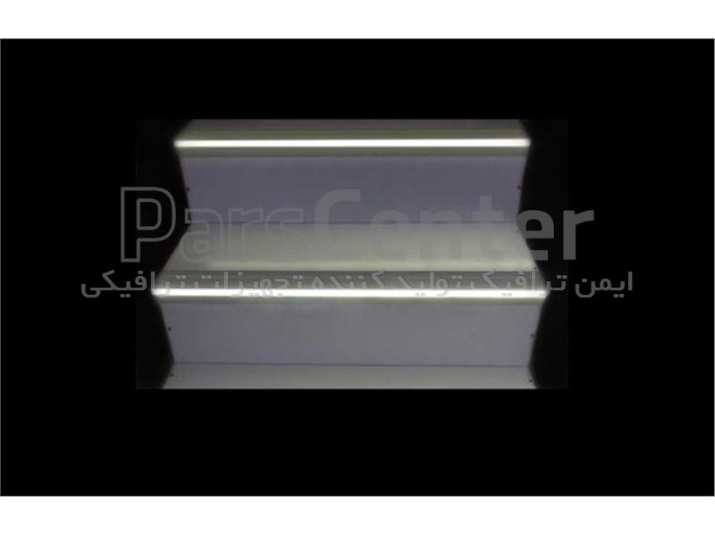 نبشی پله آلومینیومی تک نوار LED مدل 06