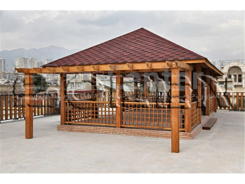 طراحی و ساخت آلاچیق چوبی (کد 215 در شهرک غرب)