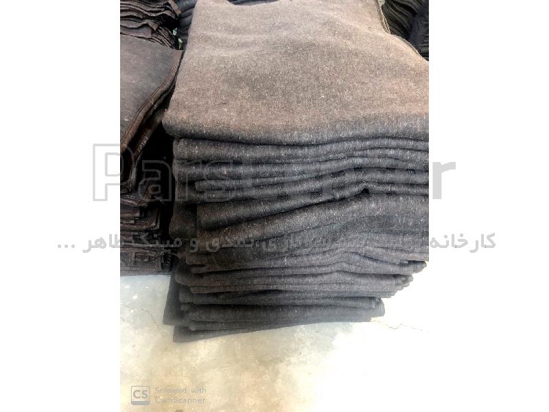 پتو سربازی نمدی مشکی-خاکستری رنگ 2 کیلوگرمی