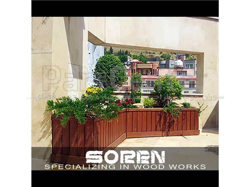 طراحی و اجرای بام سبز | روف گاردن ( با فلاورباکس چوبی در منطقه جمشیدیه )
