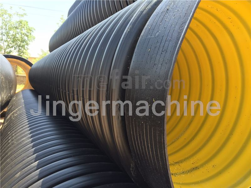 Double wall corrugated polyethylene pipe (400 mm)