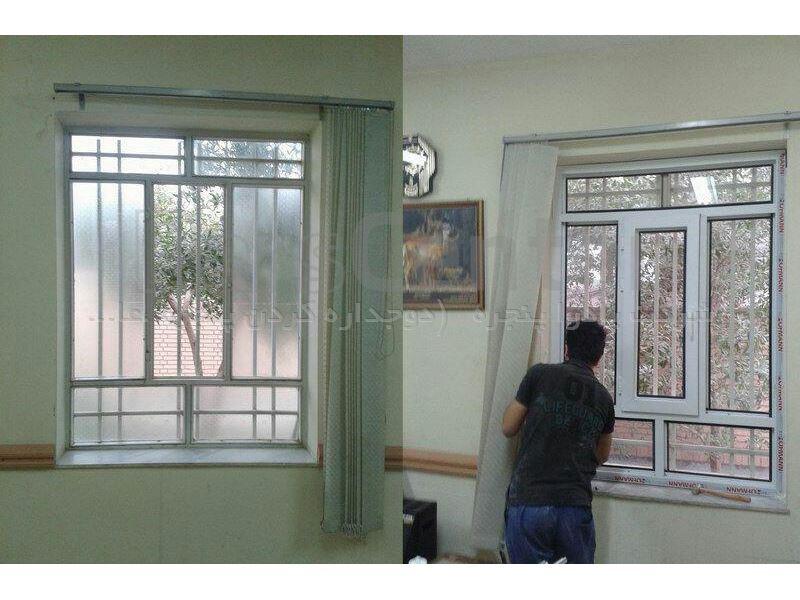 دوجداره کردن پنجره های آهنی