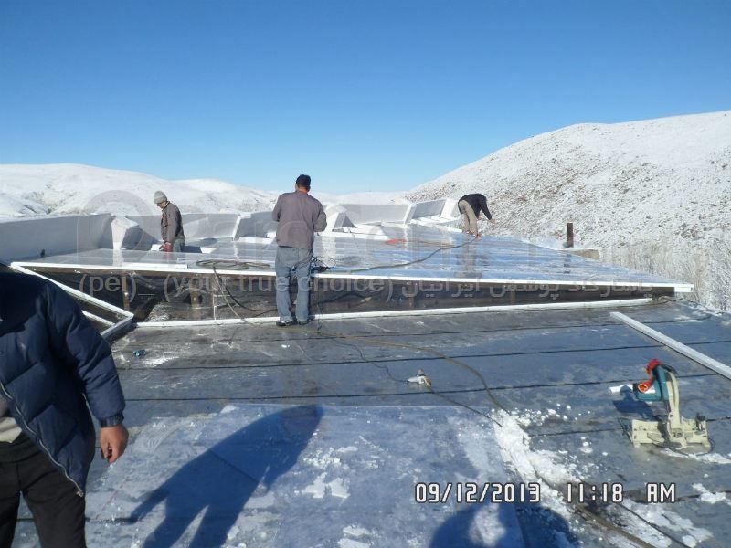 سقف ثابت استخر شنای عمومی زتانه مجتمع آبدرمانی وله زیر ( مشگین شهر)