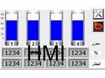 نشانگرHMI و PLCحجم 4 مخزن سیال با خروجی ٤-٢٠mA