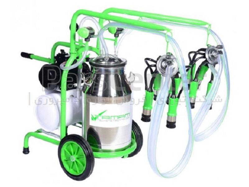 شیردوش سیار گاودوش ملاستی - دو واحد تک بیدون -سبز