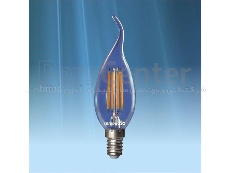 لامپ LED فیلامانی 4 وات اشکی