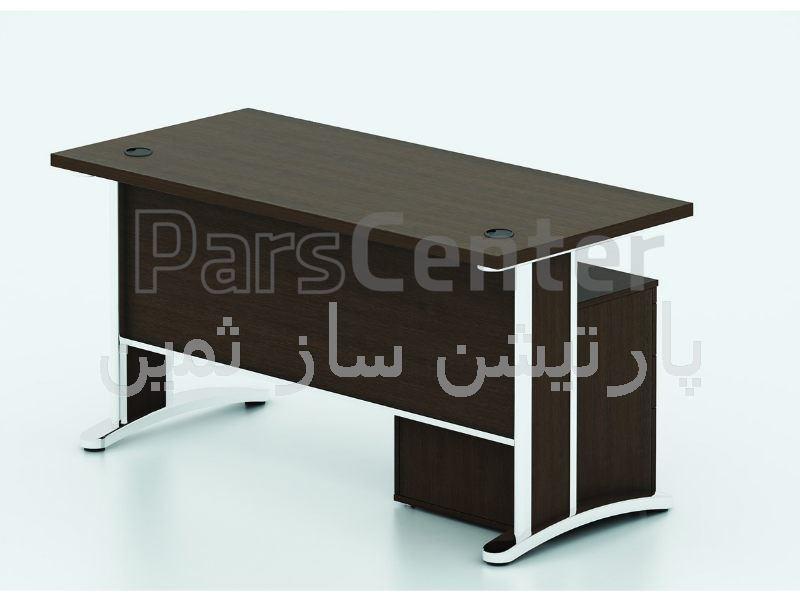 میز کارمندی پایه فلزی ثمین مدل 5732