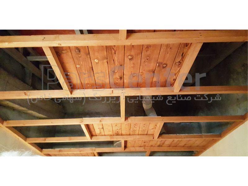 سقف و پله تمام چوب ، شهرستان نور