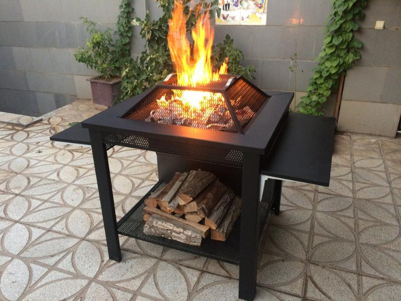 آتشدان هیزمی سوز و چوب سوز تیپ3 مربع