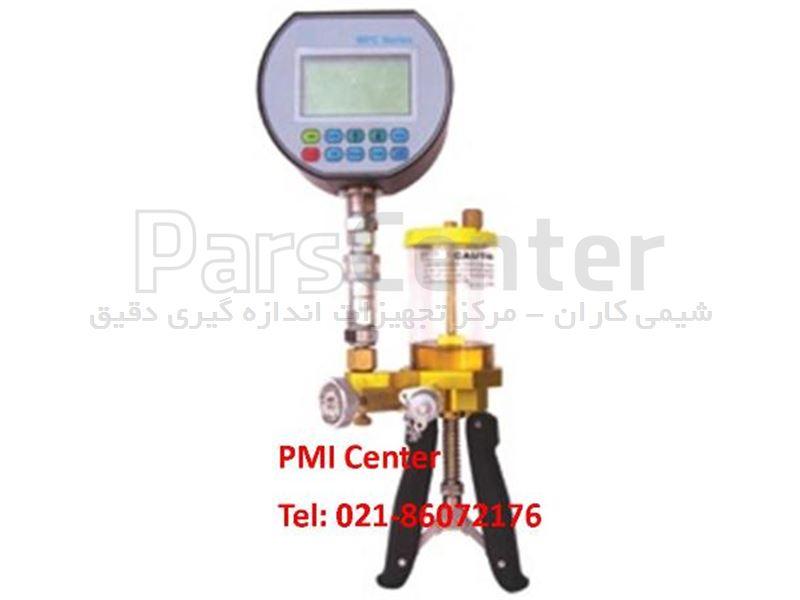 هند پمپ فشار (پمپ دستی فشار) کالیبراسیون گیج  فشار هیدرولیک روغنی 350بار Pressure Hand Pump