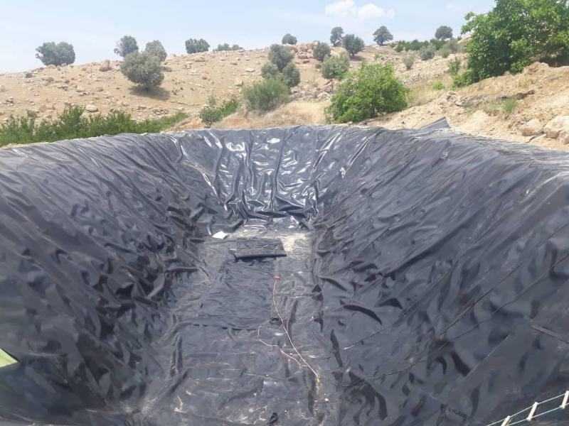 ساخت استخر  کشاورزی با ورق ژئوممبران - شیراز
