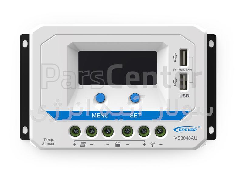 شارژ کنترلر 20 آمپر EPSOLAR VS2024AU دارای پورت USB