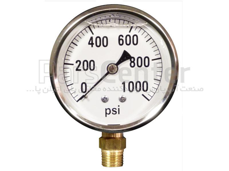 مانومتر یا درجه ی روغنی 10 بار استیل