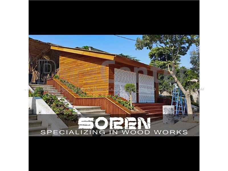 طراحی و ساخت فلاورباکس چوبی ( رستوران گپ - تهران )