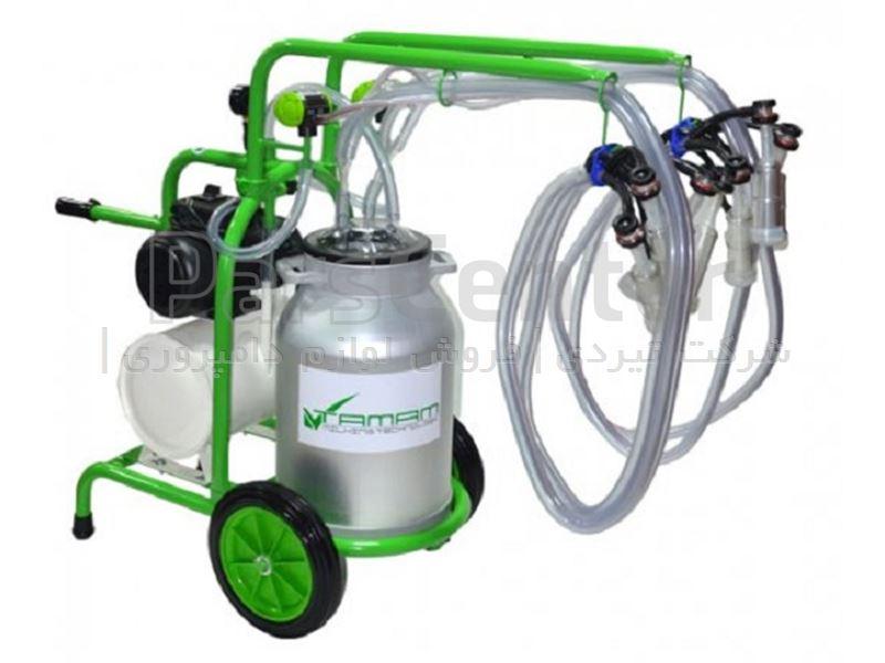 دستگاه شیردوش سیار بز دوش ملاستی - چهار واحد - سبز