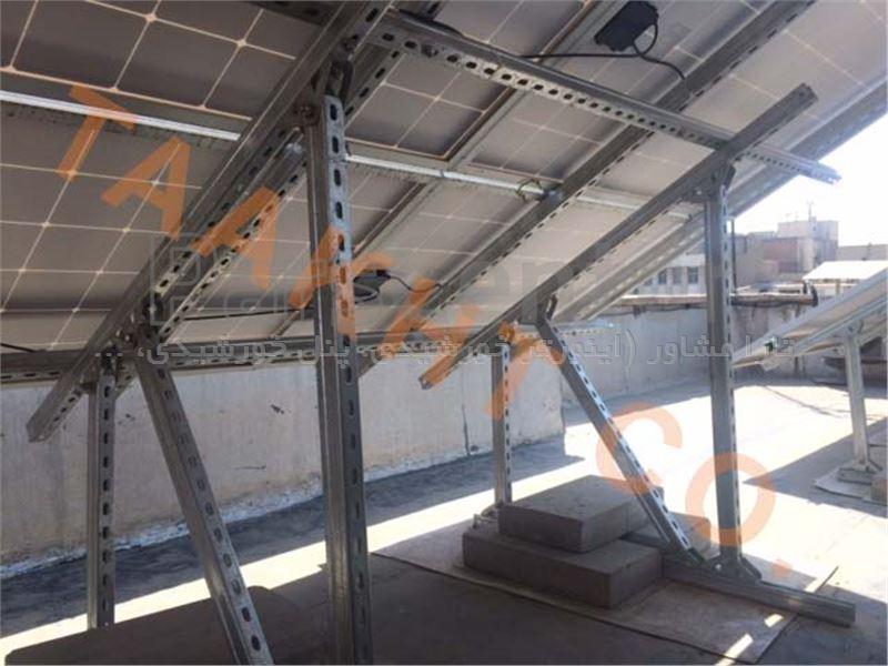 سازه نصب خورشیدی سقف