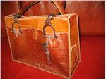کیف دوشی زنانه طرح کروکدیلی-کد206