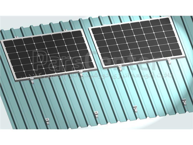 استراکچر خورشیدی سقف شیبدار (سوله)