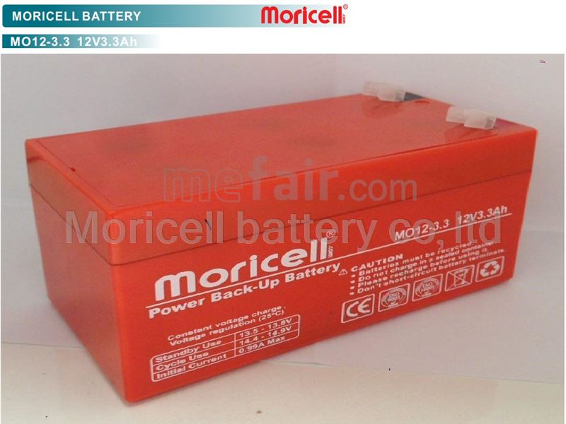 Moricell battery 12V_3.3Ah