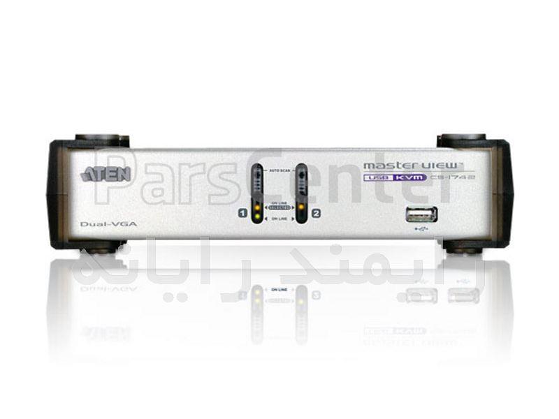 کی وی ام سوئیچ 2 پورت مدل CS-1742DUAL