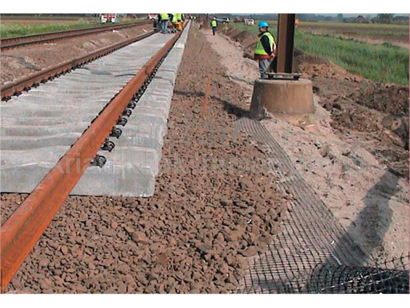 Road and railway base reinforcement using Geogrids and Geotextiles