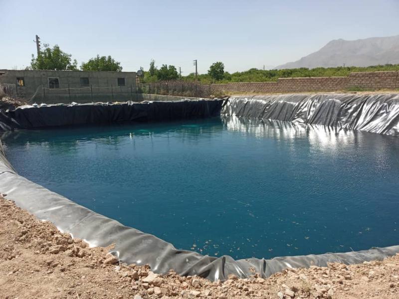 ساخت استخر ذخیره آب کشاورزی - دماوند