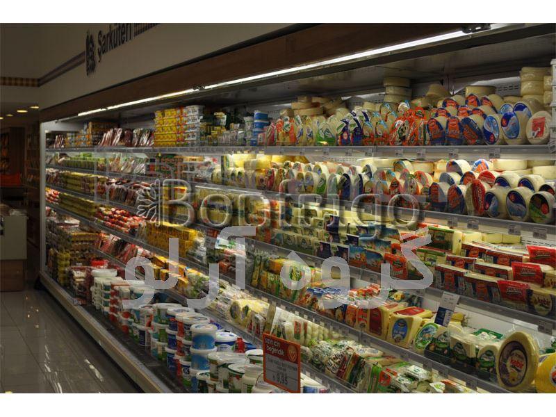 یخچال فروشگاهی،یخچال ایستاده پرده هوا
