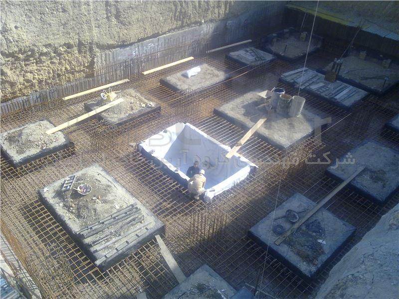 آب بندی نقاط بحرانی گودهای ساختمانی با ورق PVC، شهرک غرب