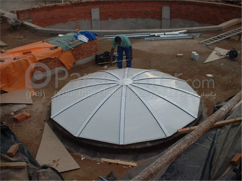 Building skylight _ نورگیر گنبدی 66