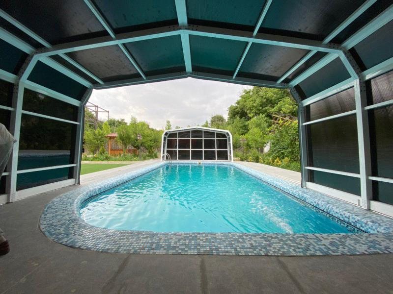 سقف متحرک استخر - کیلان دماوند