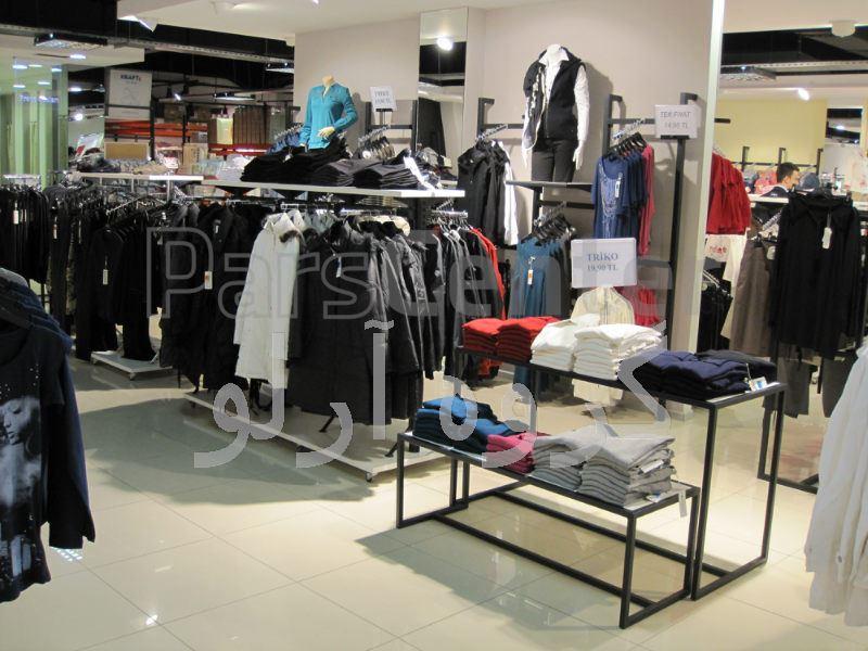 قفسه پوشاک،رگال لباس-قفسه بندی بوتیک 4