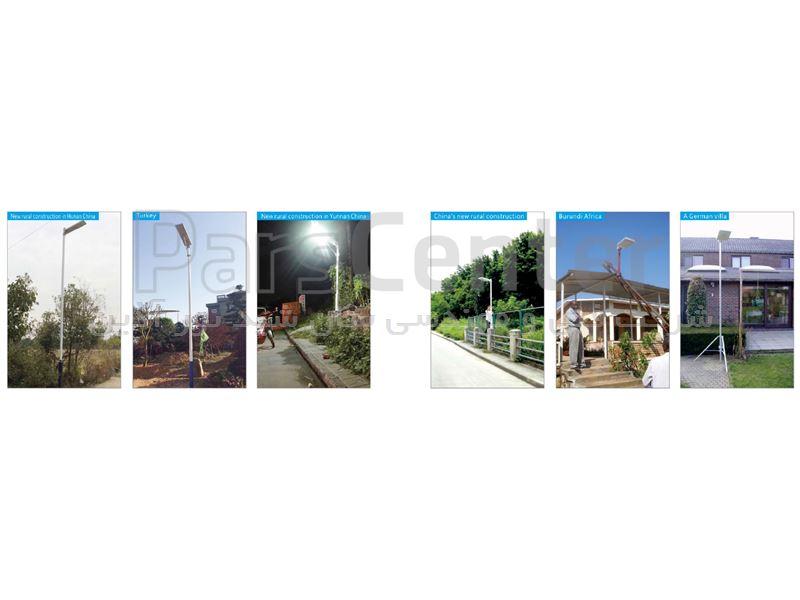 چراغ روشنایی خورشیدی خیابانی هوشمند 12 وات