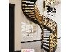 پله گرد دوبلکس دو محور ورق با نرده cnc
