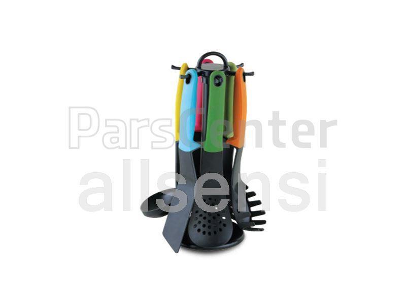 ست کفگیر و ملاقه رنگی مدل سنسی