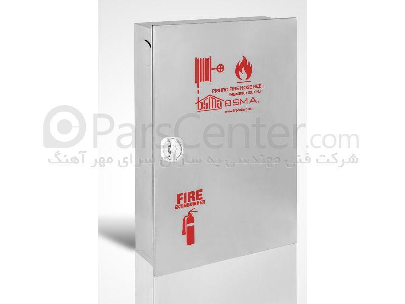 جعبه آتش نشانی  استیل پیشرو عمودی