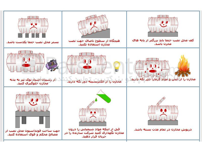 قیمت مخزن, منبع, تانکر پلی اتیلن, پلاستیکی افقی از 100 تا 10.000 لیتری