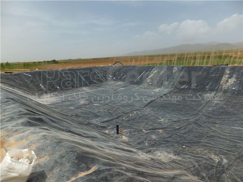 ساخت استخر کشاورزی با ورق ژئوممبران، همدان