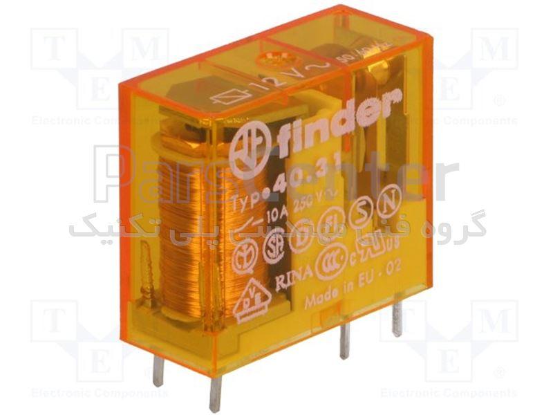 رله فیندر پایه سوزنی 5 پین مدل j 40.31.8.060.0000