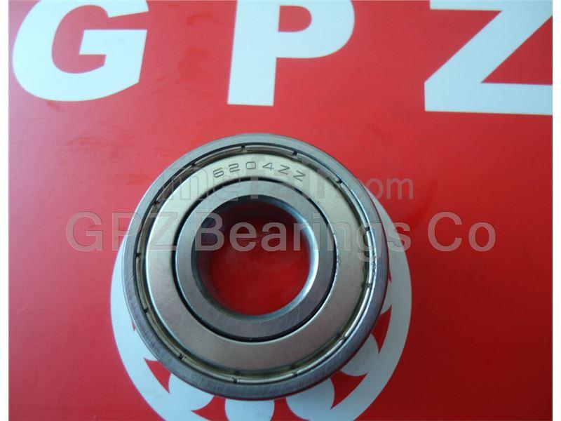 GPZ deep groove ball bearing 6204ZZ